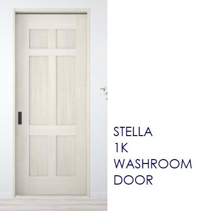 1K洗面室広告ドア